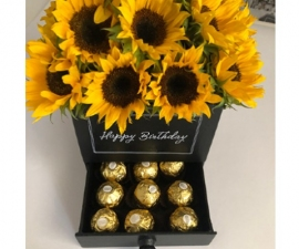 Classic Sunflower Black Box - RSVP Designs